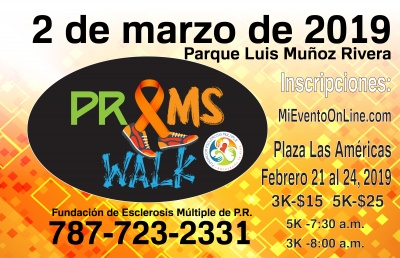 PR MULTIPLE SCLEROSIS 5K & 3K WALK