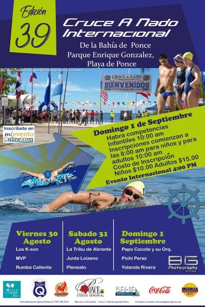 39 Edición Cruce A Nado Internacional de la Bahía de la Playa de Ponce