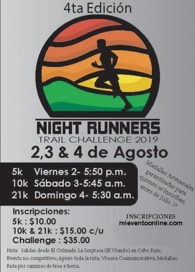 Night Runners Trail Challenge - 4a Edicion