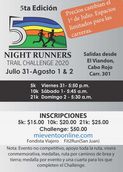 Night Runners Trail Challenge - 5a Edicion