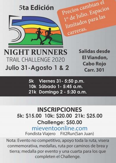 Night Runners Trail Challenge - 5a Edicion