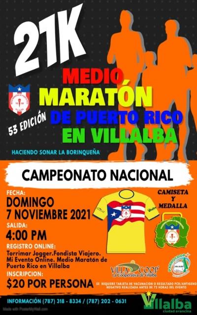 Medio Maratón Puerto Rico en Villalba
